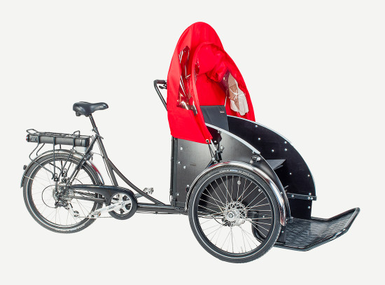 christiania bikes taxi hood